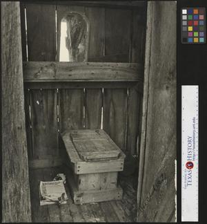 Primary view of object titled '[Inside of an Outhouse]'.