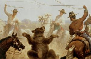 Primary view of Cowboys Roping a Bear