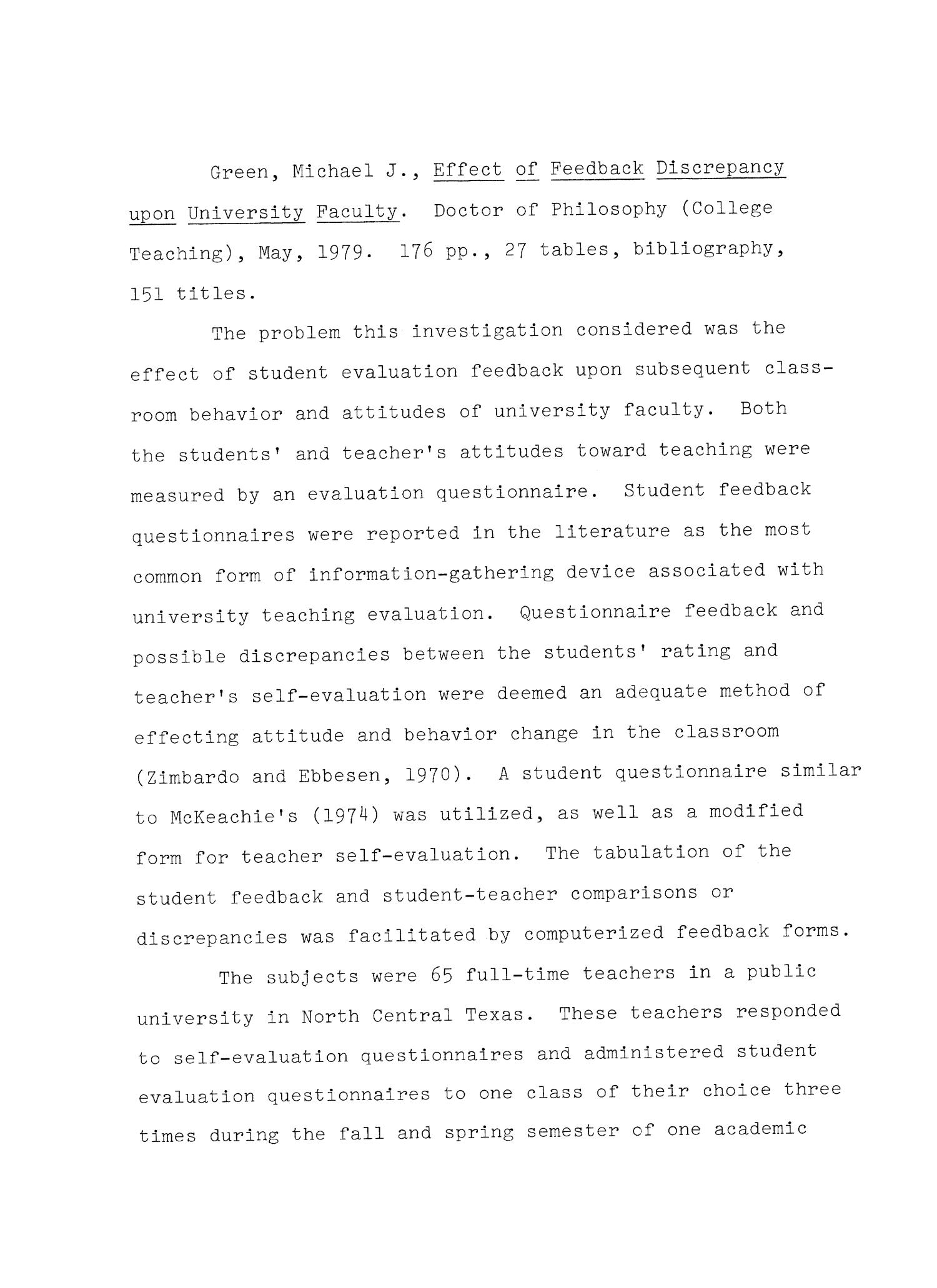 Effect Of Feedback Discrepancy Upon University Faculty Page 2