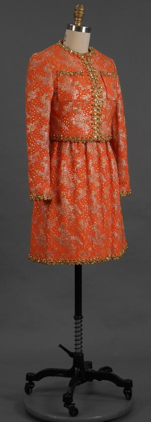 Primary view of object titled 'Cocktail Ensemble - Dress and Jacket'.