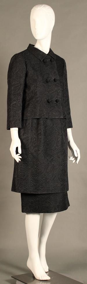 Primary view of object titled 'Cocktail Suit - Dress, Underskirt, and Jacket'.