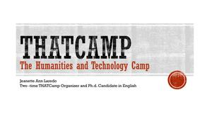 Primary view of object titled 'THATCamp: The Humanities and Technology Camp'.