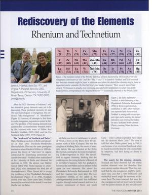 Primary view of object titled 'Rediscovery of the Elements: Rhenium and Technetium'.