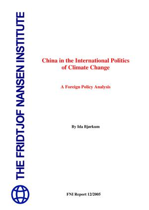 Primary view of object titled 'China in the International Politics of Climate Change: A Foreign Policy Analysis'.