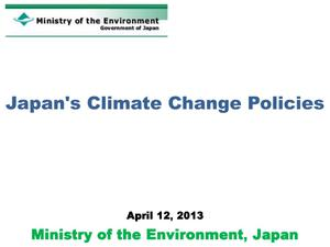 Primary view of object titled 'Japan's Climate Change Policies'.