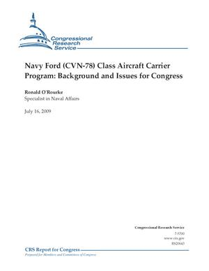 Primary view of Navy Ford (CVN-78) Class Aircraft Carrier Program: Background and Issues for Congress