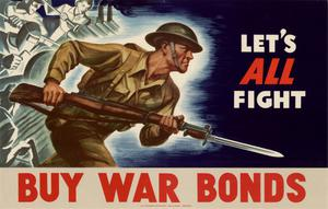 Primary view of object titled 'Let's all fight : buy war bonds.'.