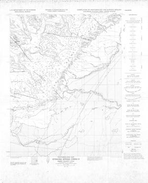 Primary view of object titled 'Photogeologic Map, Stinking Spring Creek-9 Quadrangle, Emery County, Utah'.