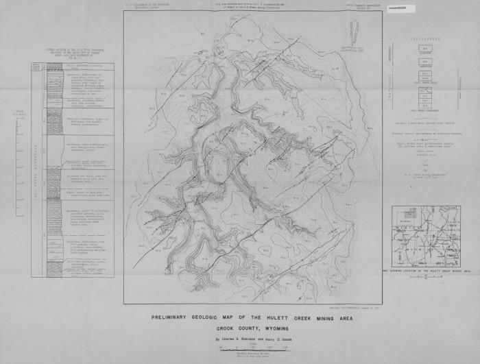 Preliminary Geologic Map of the Hulett Creek Mining Area, Crook