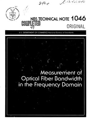 Primary view of object titled 'Measurement of Optical Fiber Bandwidth in the Frequency Domain'.