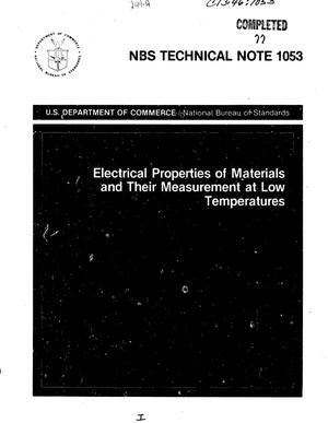 Primary view of object titled 'Electrical Properties of Materials and Their Measurement at Low Temperatures'.