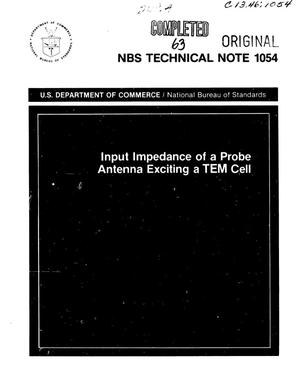 Primary view of object titled 'Input Impedance of a Probe Antenna Exciting a TEM Cell'.