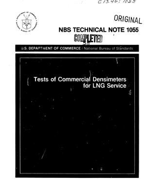 Primary view of object titled 'Tests of Commercial Densimeters for LNG Service'.