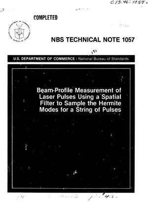 Primary view of object titled 'Beam-Profile Measurement of Laser Pulses Using a Spatial Filter to Sample the Hermite Modes of a String of Pulses'.