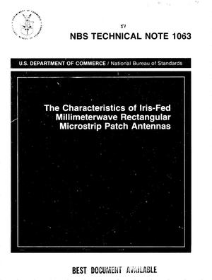 Primary view of object titled 'The Characteristics of Iris-Fed Millimeterwave Rectangular Microstrip Patch Antennas'.