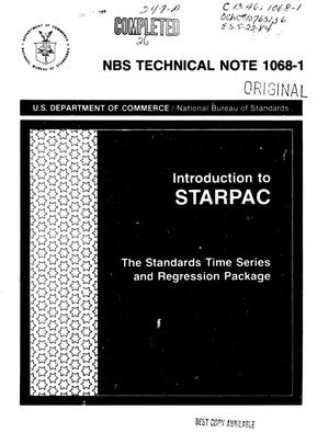 Primary view of object titled 'Introduction to STARPAC: the Standards Time Series and Regression Package'.