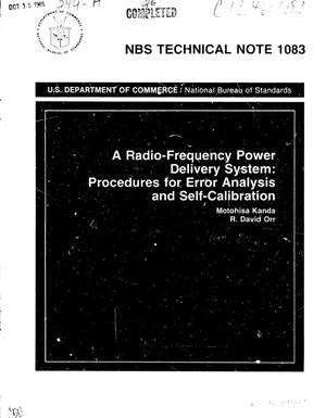 Primary view of object titled 'A Radio-Frequency Power Delivery System: Procedures for Error Analysis and Self-Calibration'.