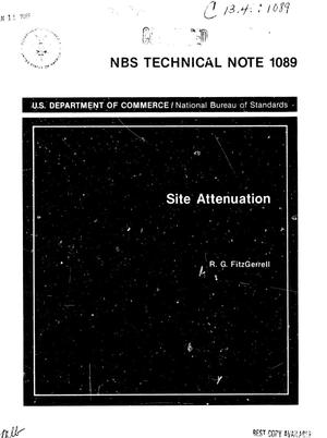 Primary view of object titled 'Site Attenuation'.