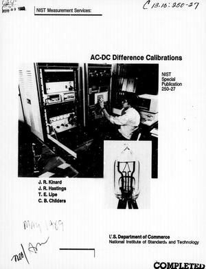 AC-DC Difference Calibrations