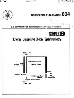 Energy Dispersive X-Ray Spectrometry