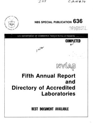 Annual Report and Directory of Accredited Laboratories: 1981