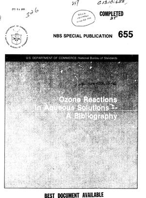 Ozone Reactions in Aqueous Solutions: a Bibliography