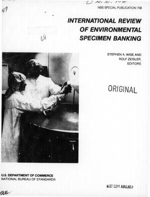 Primary view of object titled 'International Review of Environmental Specimen Banking'.