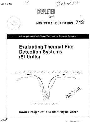 Primary view of object titled 'Evaluating Thermal Fire Detection Systems: SI Units'.
