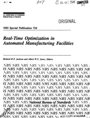 Primary view of object titled 'Real-Time Optimization in Automated Manufacturing Facilities'.