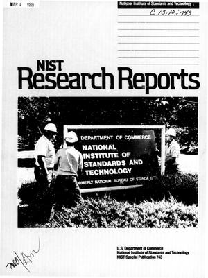Primary view of object titled 'National Institute of Standards and Technology Research Reports: Fall 1988'.