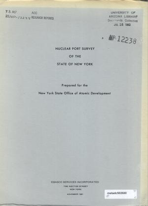 Primary view of object titled 'Nuclear Port Survey of the State of New York'.