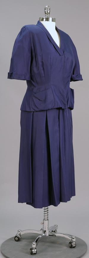 Primary view of object titled 'Ensemble - Blouse and Skirt'.