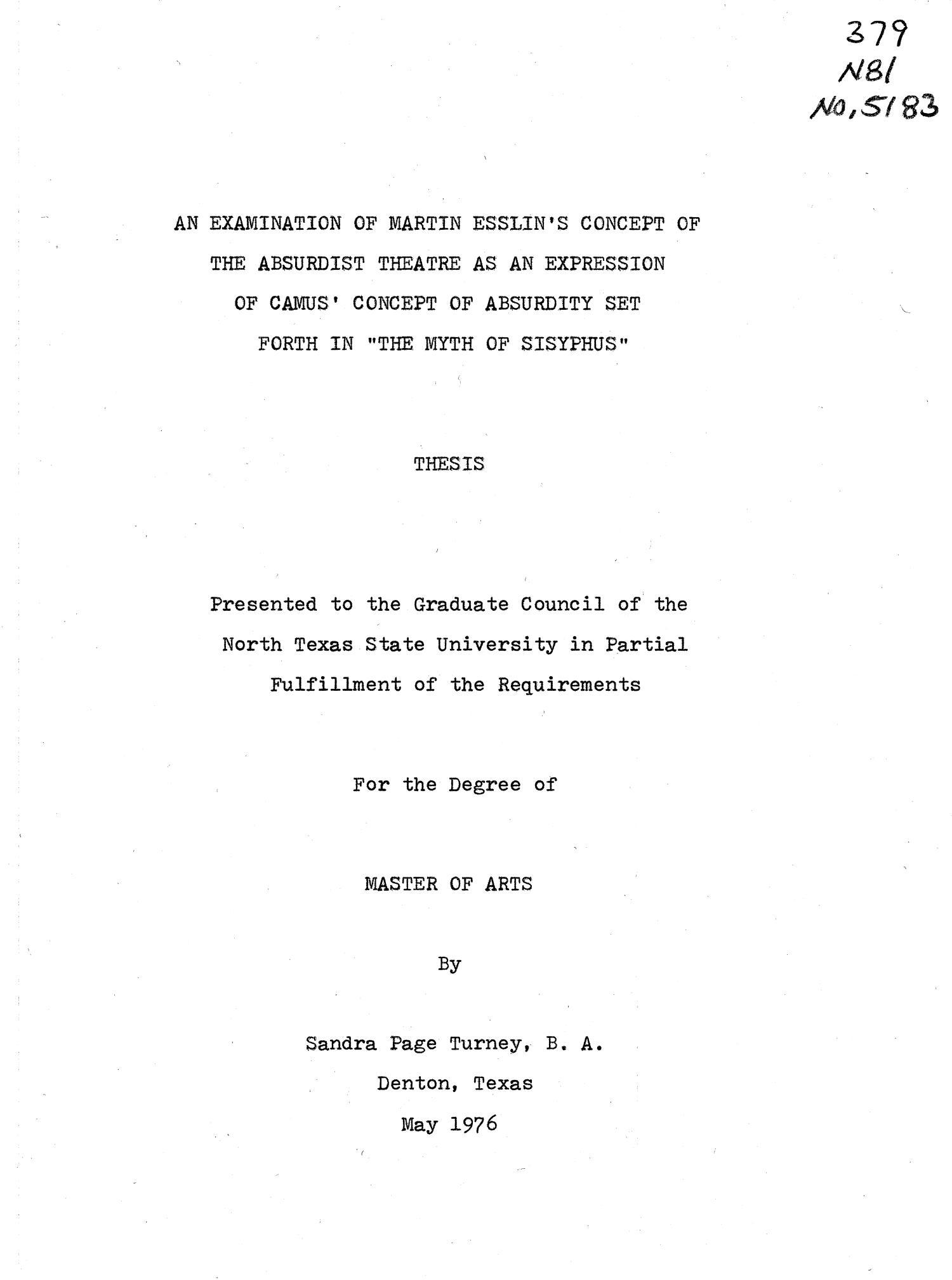 the myth of sisyphus camus full text pdf