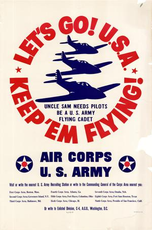 Primary view of object titled 'Let's go! U.S.A. : keep 'em flying!'.