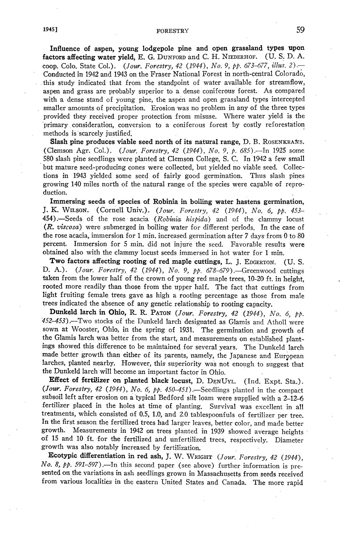 Experiment Station Record, Volume 92, January-June, 1945                                                                                                      59