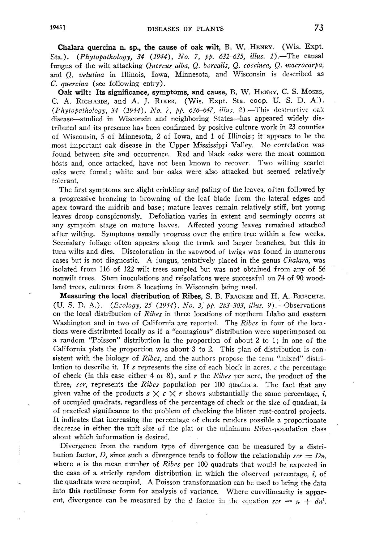 Experiment Station Record, Volume 92, January-June, 1945                                                                                                      73
