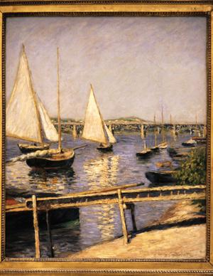 Primary view of object titled 'Sailboats at Argenteuil'.