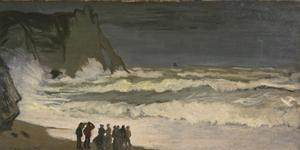 Primary view of object titled 'Heavy Surf at Etretat'.