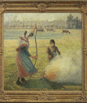 Primary view of object titled 'Young Peasants Feeding a Fire'.