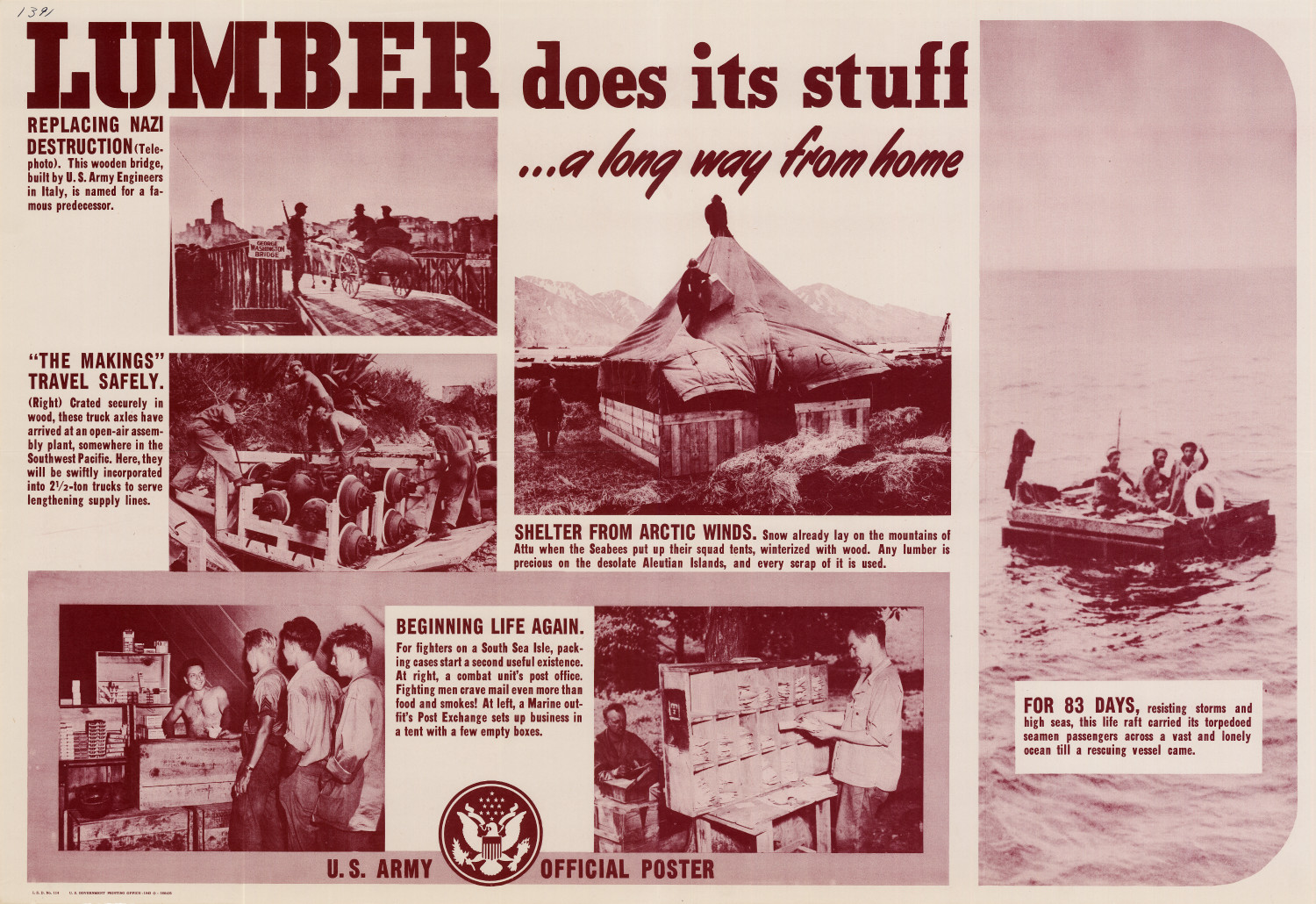 Lumber does its stuff --a long way from home.                                                                                                      [Sequence #]: 1 of 1