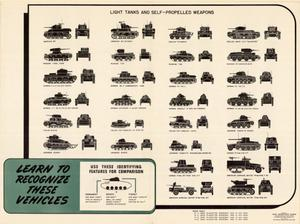 Primary view of object titled 'Learn to recognize these vehicles : light tanks and self-propelled weapons.'.