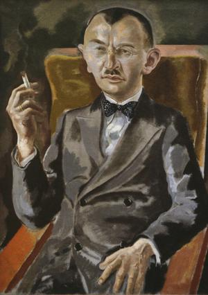 Primary view of object titled 'Portrait of Dr. Eduard Plietsch'.
