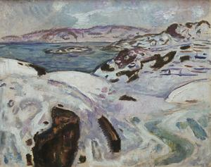Primary view of object titled 'Winter on the Fjord'.