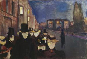 Primary view of object titled 'Evening on Karl Johan's Street'.