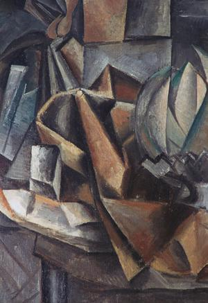 Primary view of Still Life with Fan, Salt Box and Melon