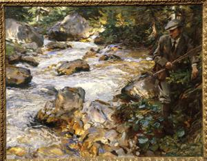 Primary view of object titled 'Trout Stream in the Tyrol'.