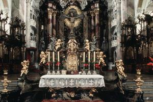 Primary view of Abbey Church of Ottobeuren, Altar of the Sacrament