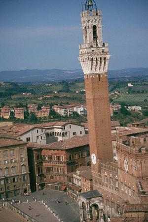 Primary view of object titled 'Panorama of Siena'.