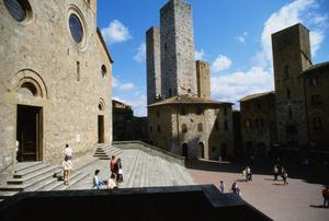 Primary view of object titled 'Panorama of San Gimignano from Palazzo del Popolo'.