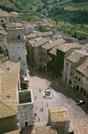 Primary view of object titled 'Panorama of San Gimignano from the Torre Grosso of Palazzo del Popolo'.